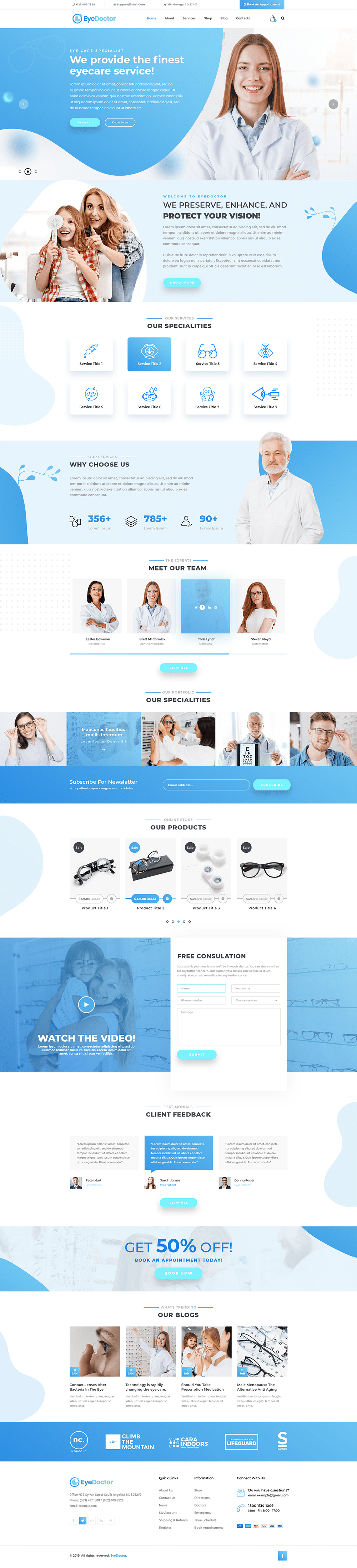 Optician WordPress Theme