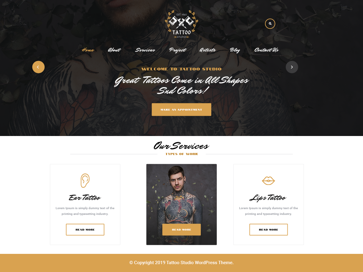 Free Tattu WordPress Theme