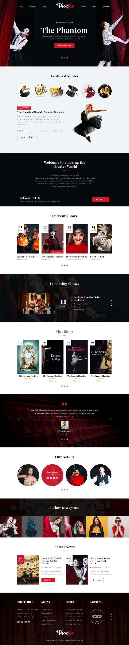 Theatre WordPress Theme
