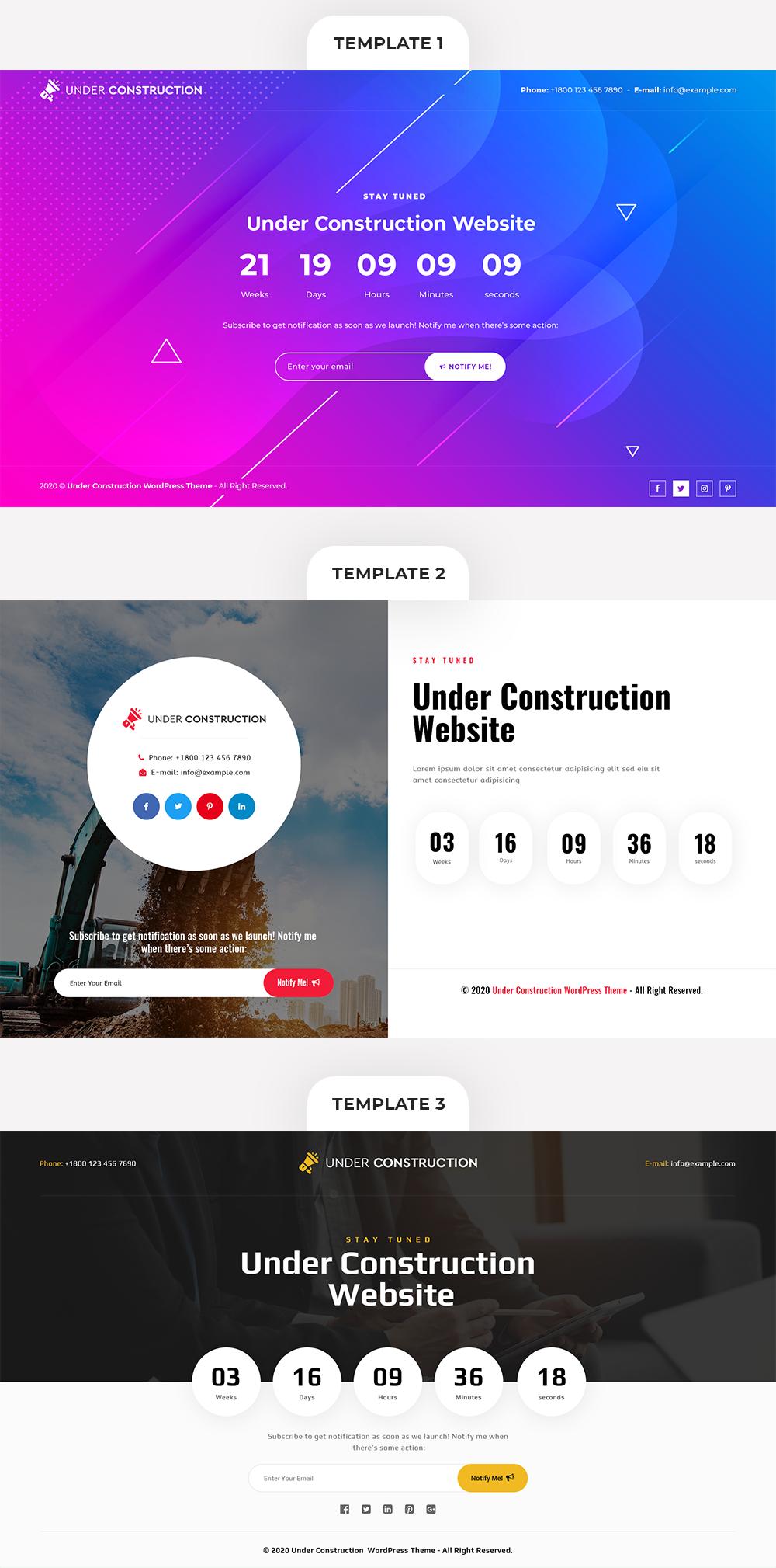 Under Construction WP Theme