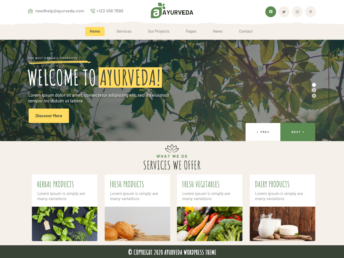 VW Ayurveda Pro WordPress Website Themes