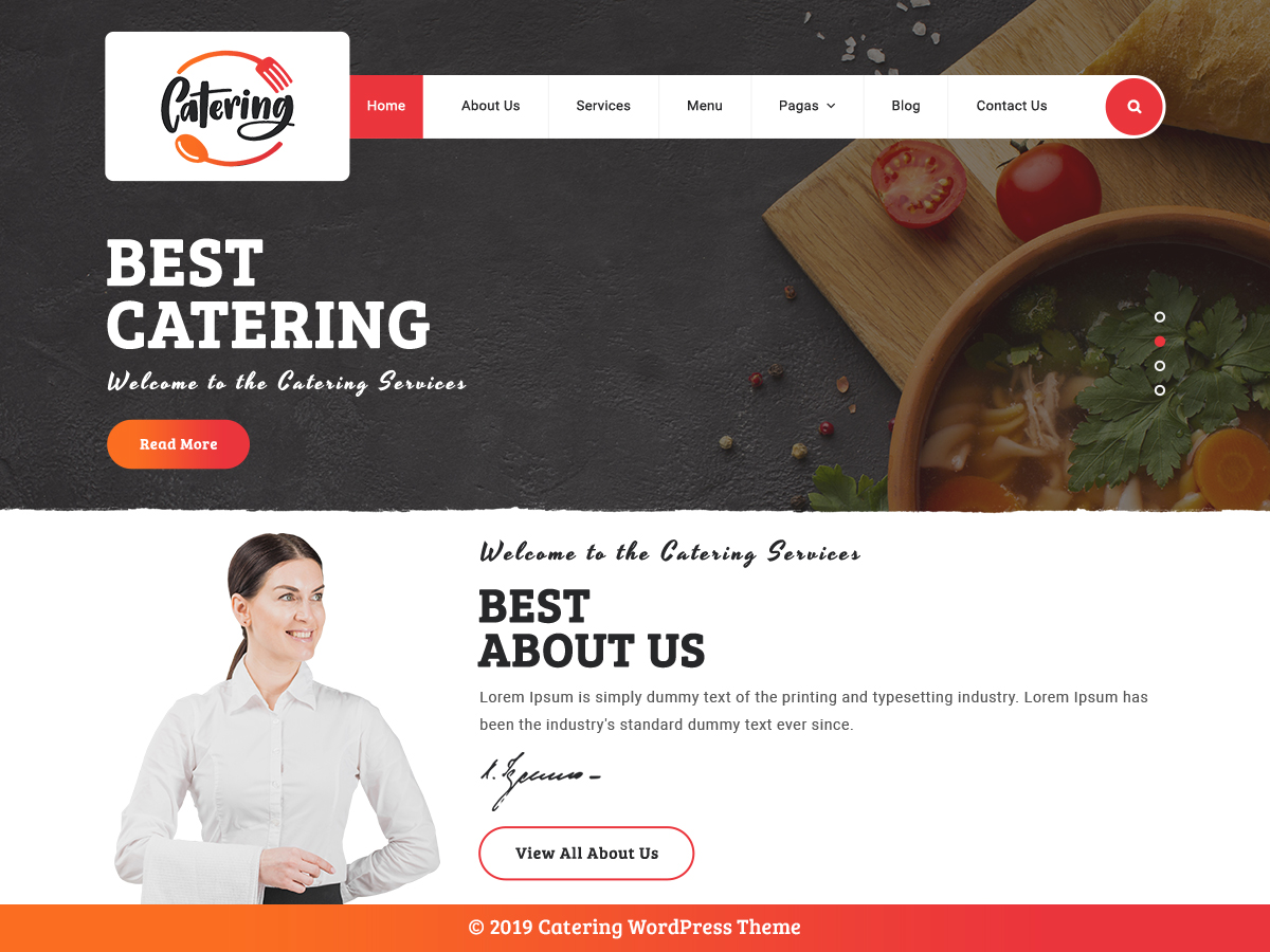 VW Catering Pro WordPress Website Themes