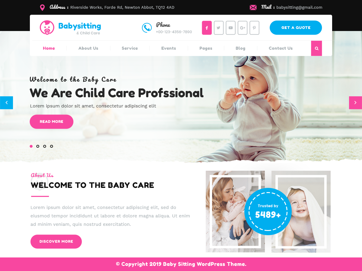 VW Childcare Pro WordPress Website Themes