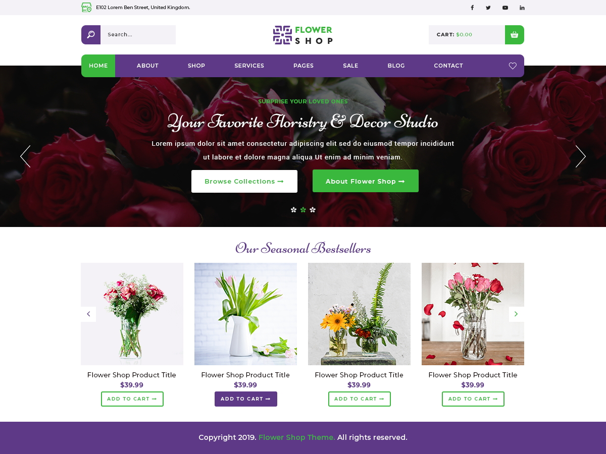 Top 20+ Ecommerce WordPress Theme For Flower Shop