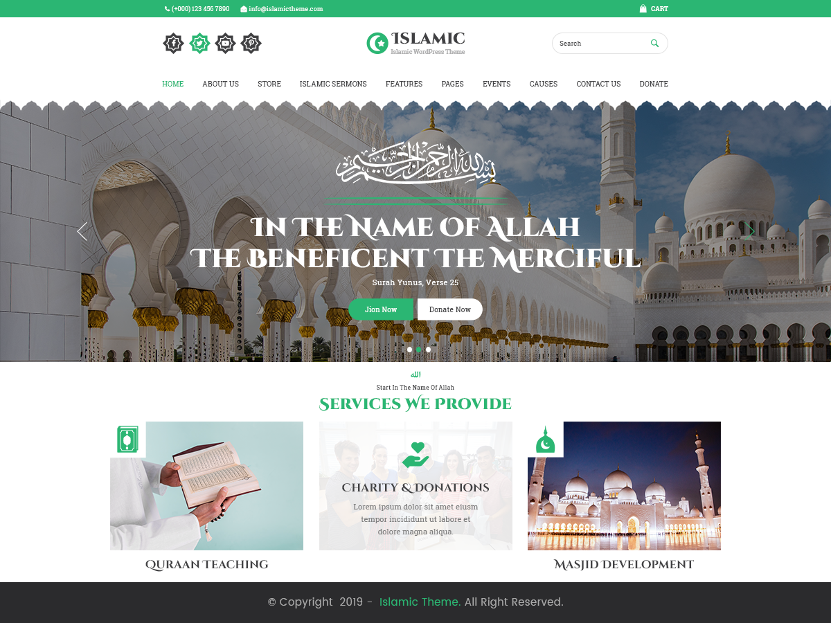VW Islamic Center WordPress Website Themes