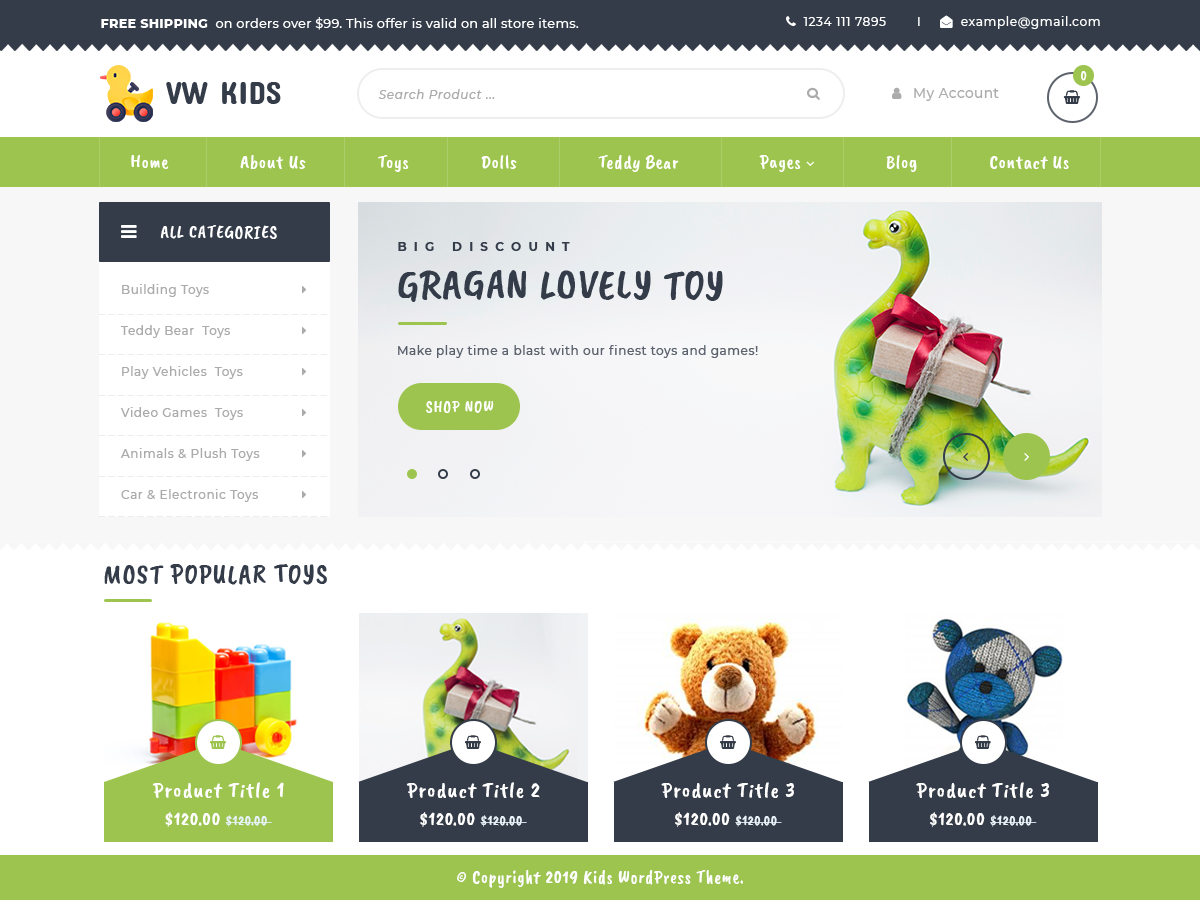 VW Kids Pro WordPress Website Themes
