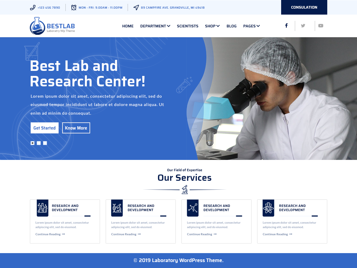 VW Laboratory Pro WordPress Website Themes