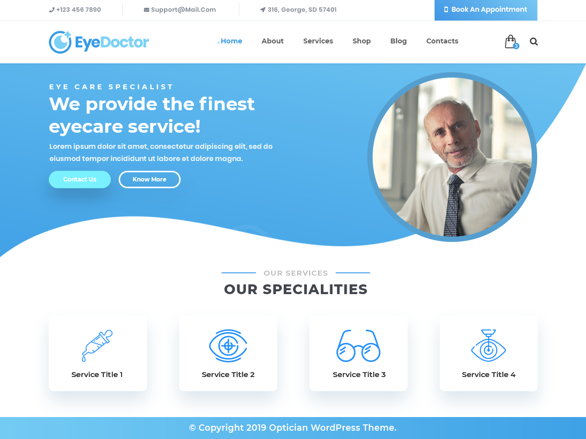 VW Optician Pro WordPress Website Themes