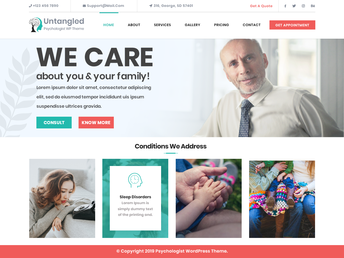 VW Psychologist Pro WordPress Website Themes
