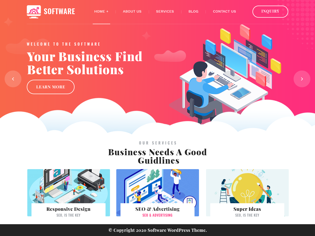VW Software Company Pro WordPress Website Themes