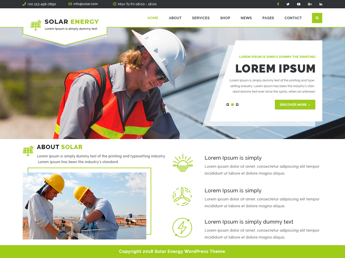 VW Solar Energy Pro WordPress Website Themes