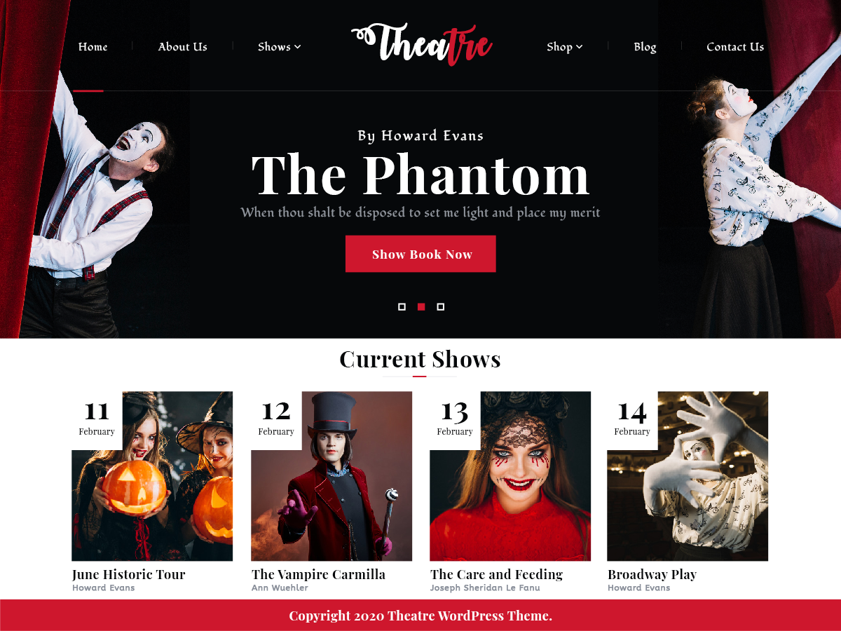 VW Theatre Pro WordPress Website Themes
