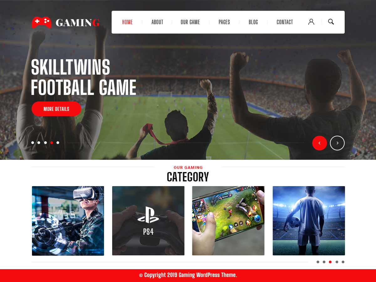 VW Gaming Pro WordPress Website Themes