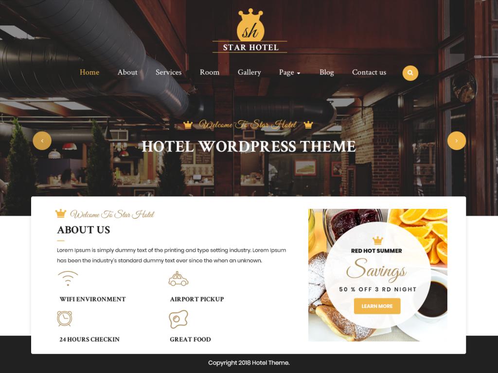 WordPress Hotel Theme