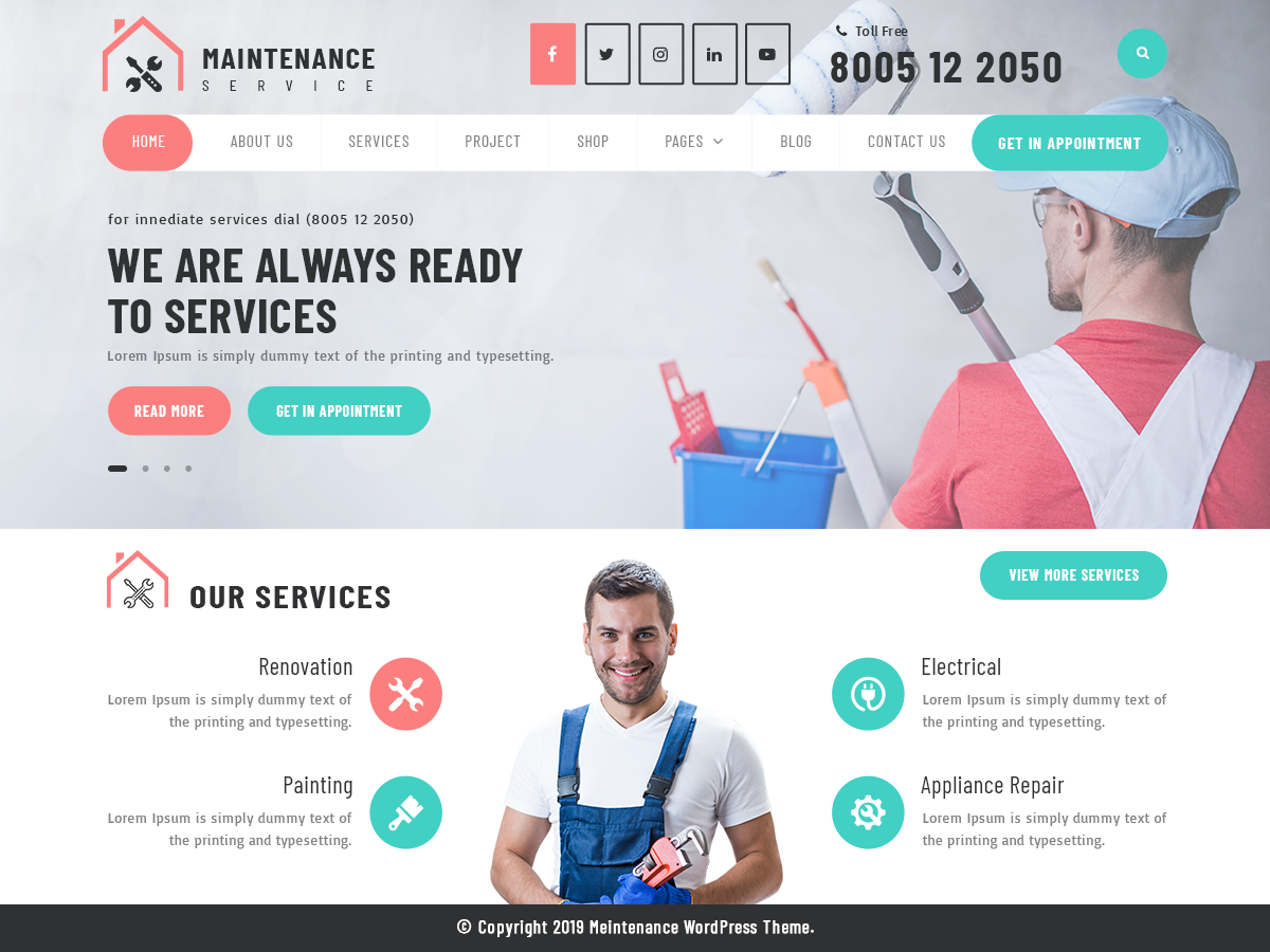 VW Maintenance Service Pro WordPress Website Themes