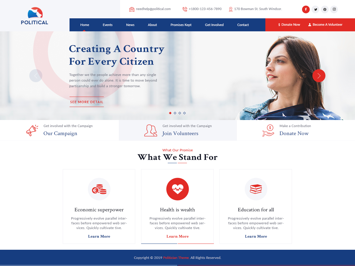VW Political Pro WordPress Website Themes