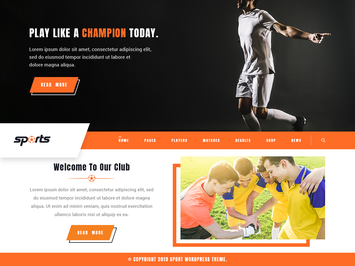 VW Sports Pro WordPress Website Themes