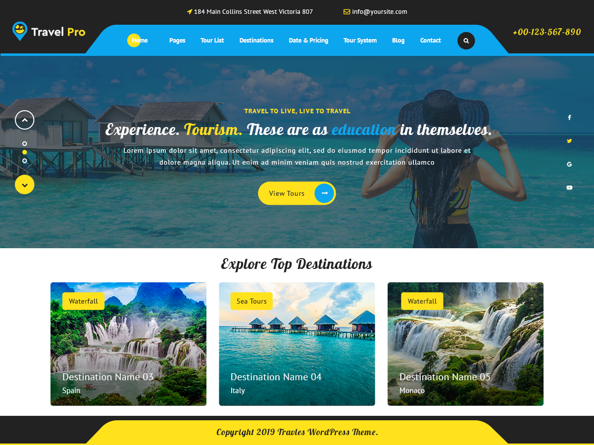 VW Travel Pro WordPress Website Themes