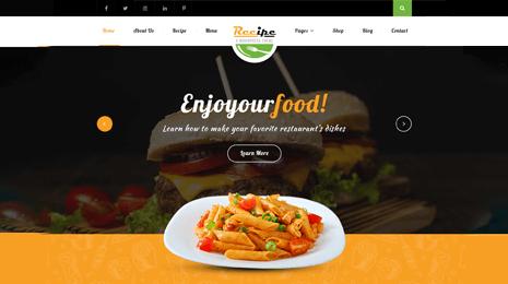 Recipe WordPress Theme Icon