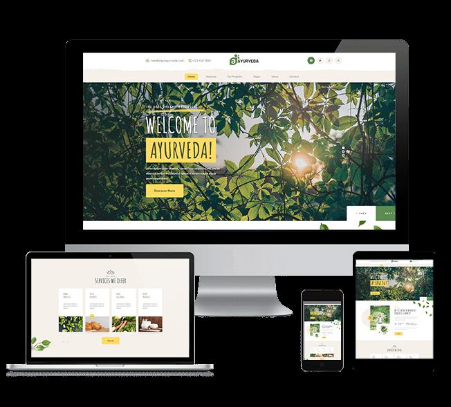 WordPRess Website Theme For Ayurvedic Companies
