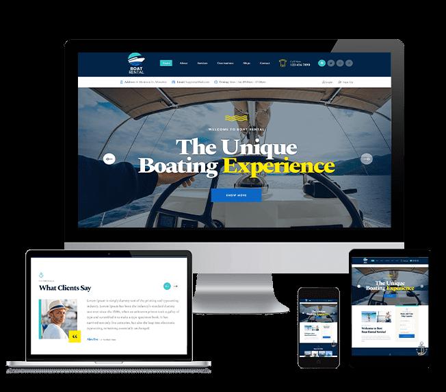 WordPRess Website Theme For Boat Rental