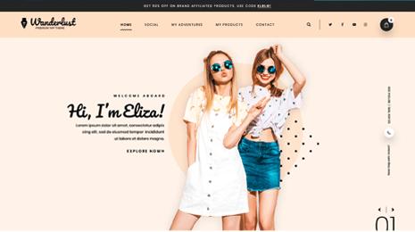 Feminine WordPress Theme Icon