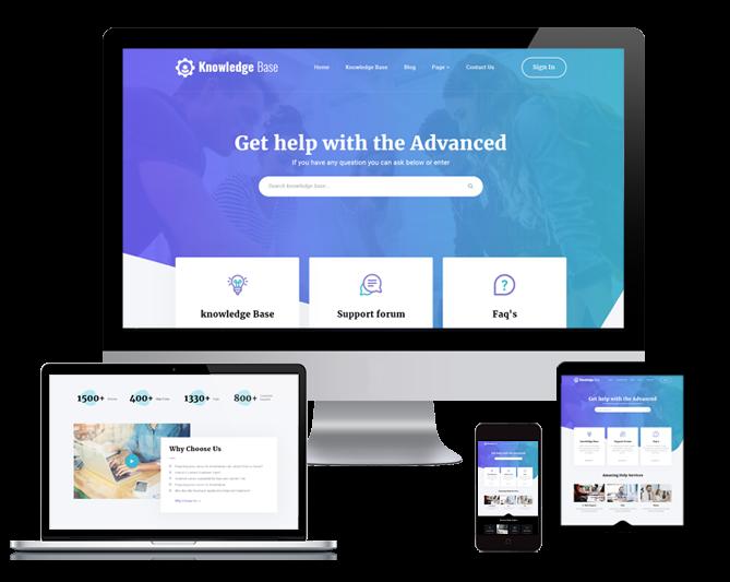 WordPRess Website Theme For Knowledge Base