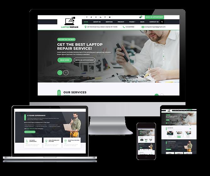 WordPRess Website Theme For Computer Repair