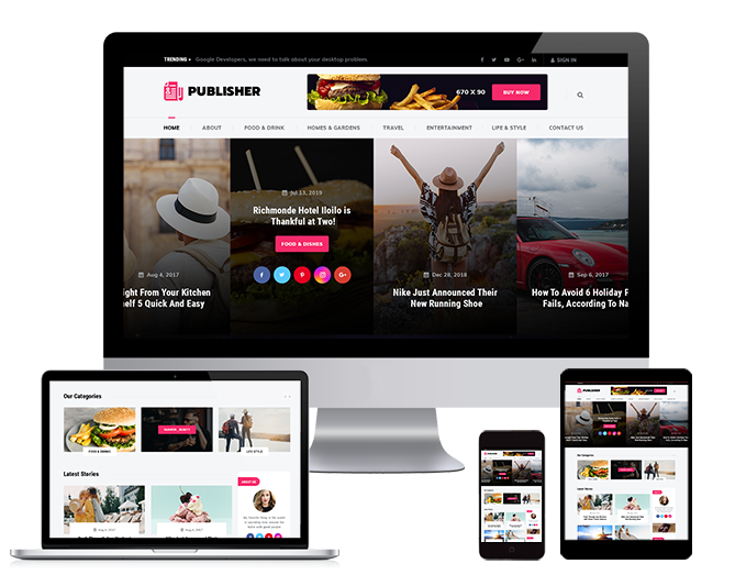WordPRess Website Theme For Publishers
