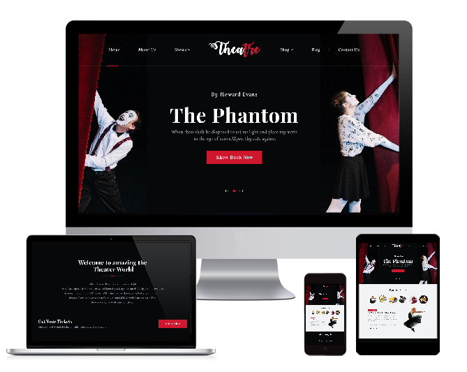 WordPRess Website Theme For Theatres