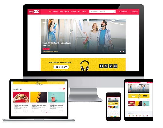 WordPRess Website Theme For Coupons