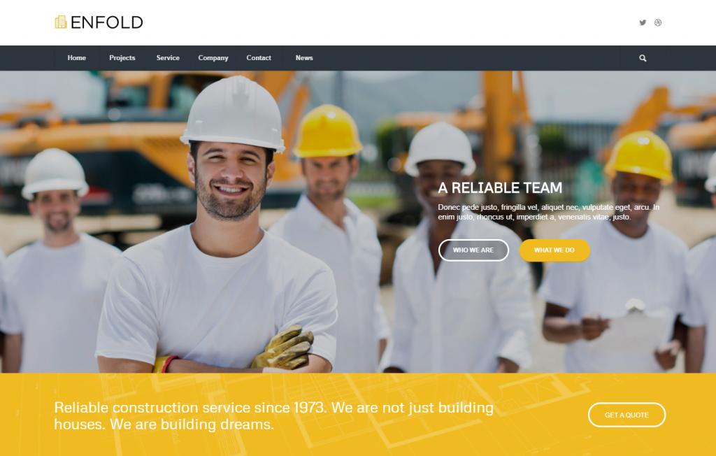 Multipurpose Construction WordPress Theme