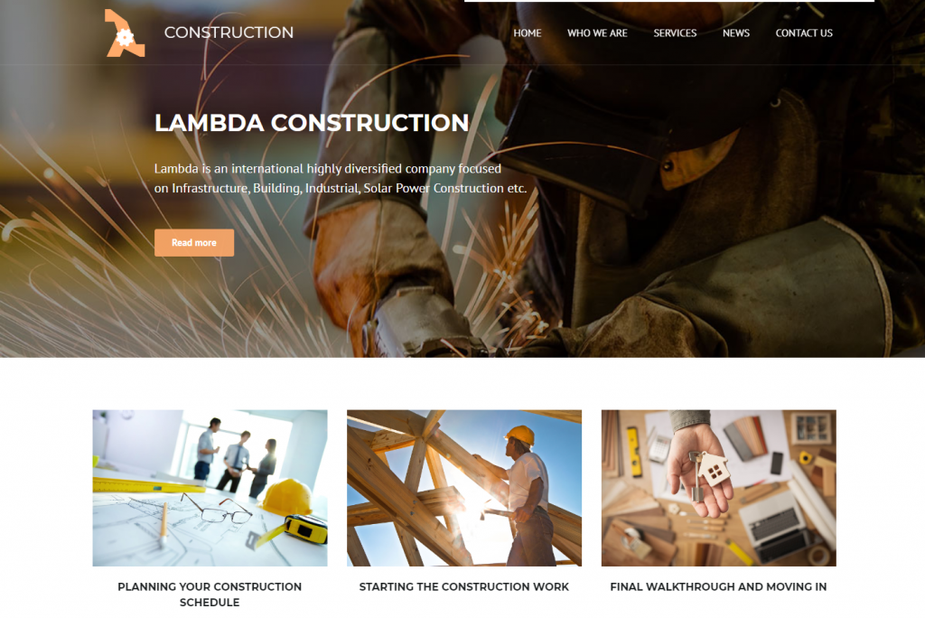 Best Construction Site WordPress Theme