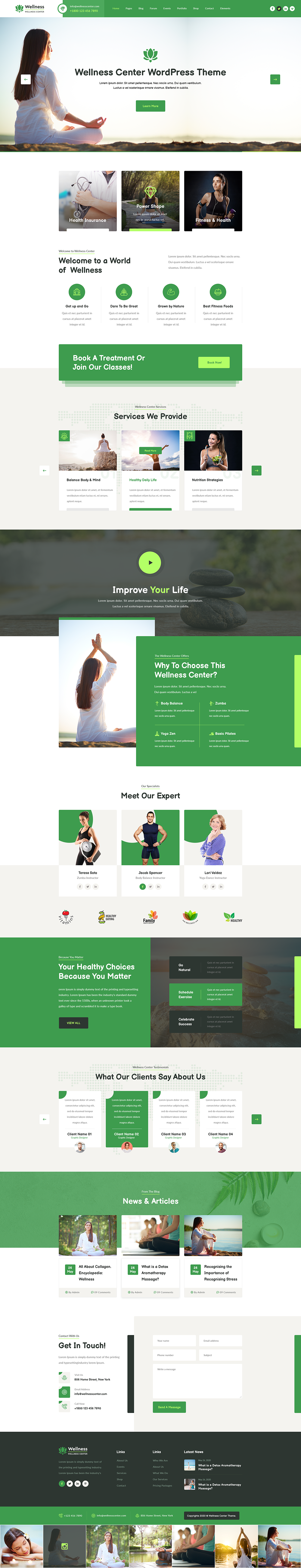 Wellness WordPress Theme