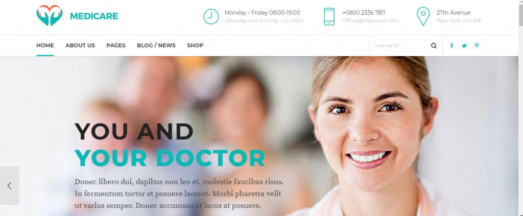 Best Doctor WordPress Theme