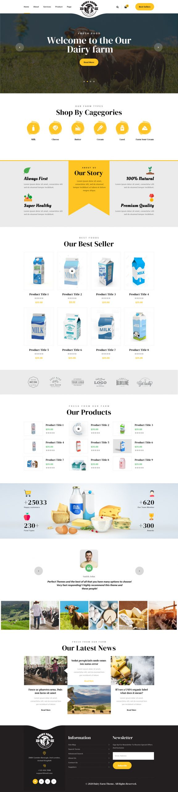 Dairy Farm WordPress Theme