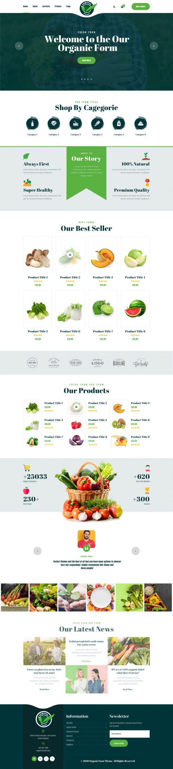 Food Farm WordPress Theme