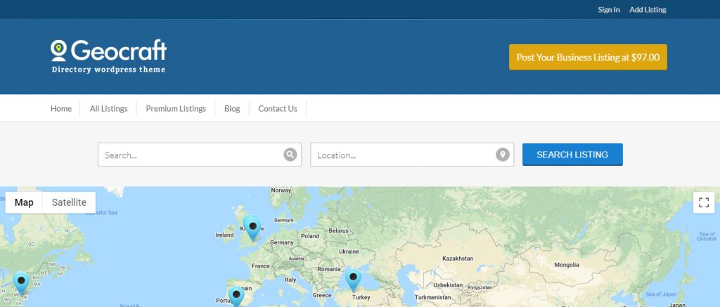 Geocraft WordPress Theme