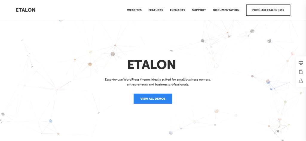 Etalon Top Pet WordPress Theme