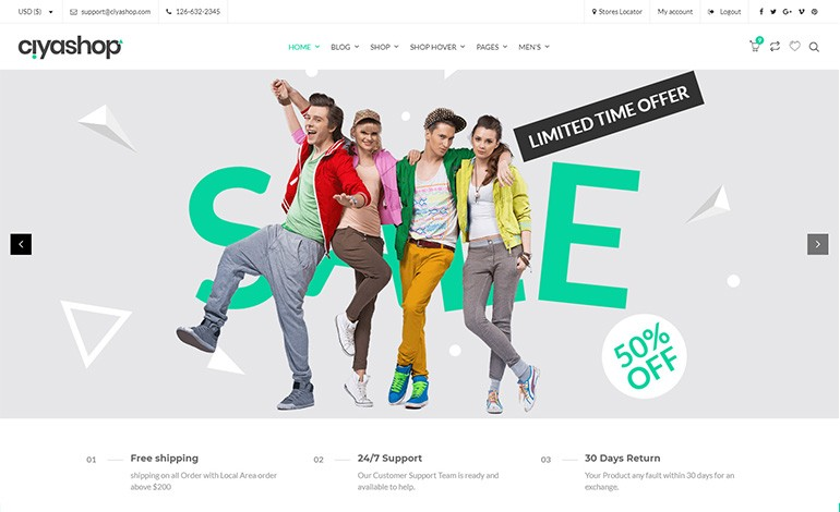 CiyaShop WordPress Theme