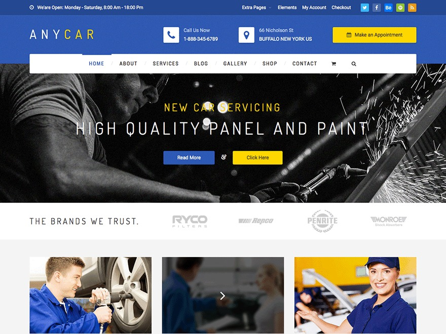 AnyCar WordPress Theme