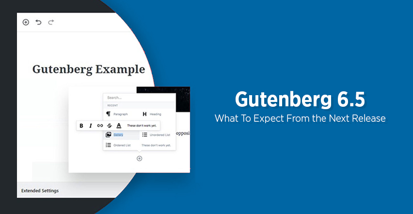 New Features in Gutenberg 6.5 on WordPress 5.3