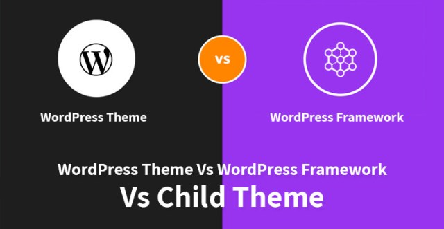WordPress theme vs WordPress framework vs child theme