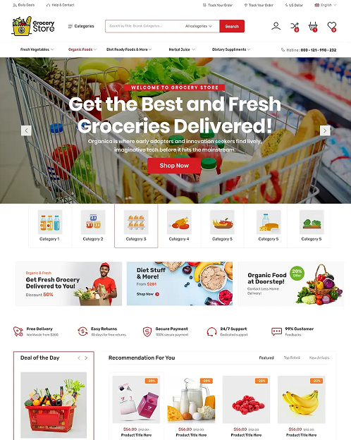 Free Grocery Store WordPress-Theme