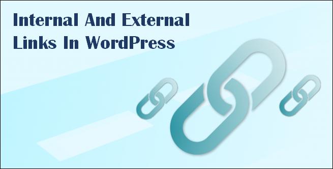 handle external & internal links WordPress