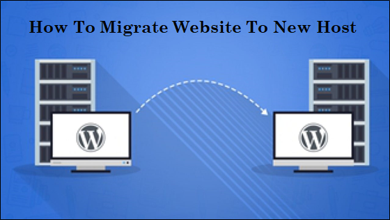 how to migrate website to new host