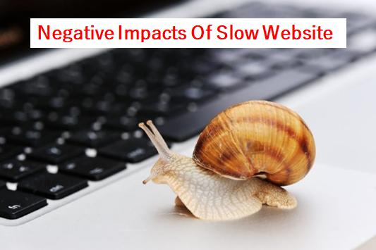 negative impacts slow website