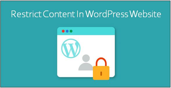 restrict content WordPress website