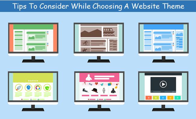 choosing a website theme
