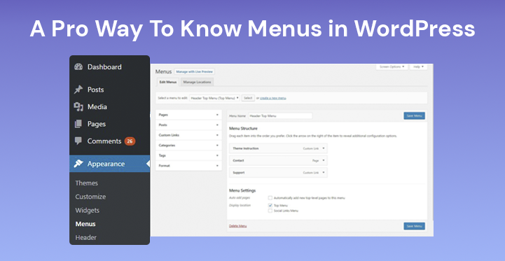 Menus in WordPress